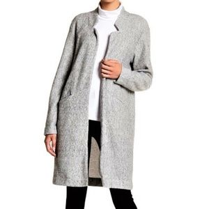 M new EXPRESS gray LUX felt Open front cocoon coat